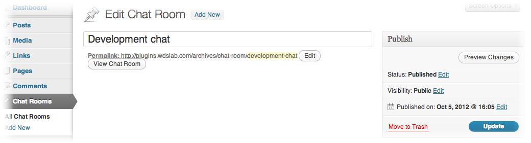 Chat Room - чат для зарегистрированных пользователей (1)