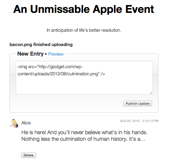 Liveblog - плагин для быстрой публикации со страниц блога с уведомлением (3)