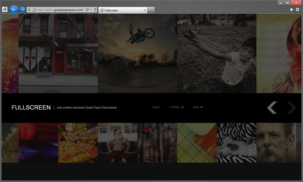 Mansion и Fullscreen - две темные темы с адаптивным дизайном для организации фотоблога (1)
