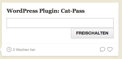 Cat-Pass - плагин, закрывающий определенную категорию паролем (2)