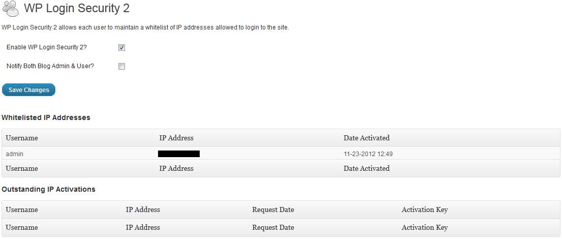 WP Login Security 2 - плагин, контролирующий доступ к странице входа | n-wp.ru