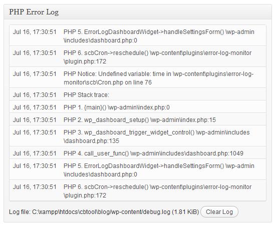 Error Log Monitor - плагин, позволяющий отслеживать ошибки PHP | n-wp.ru