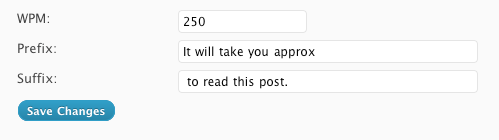 Как вывести приблизительное время чтения поста