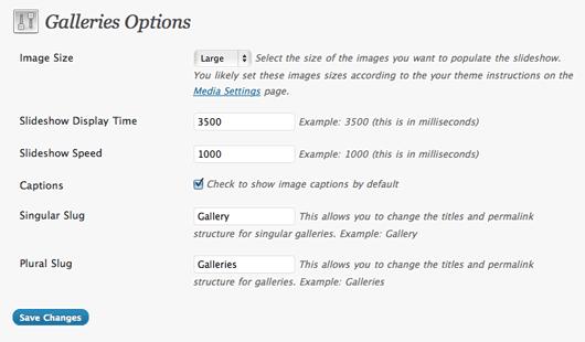 GPP Slideshow - простой плагин для показа слайд-шоу и галереи изображений, добавленных в пост (1)