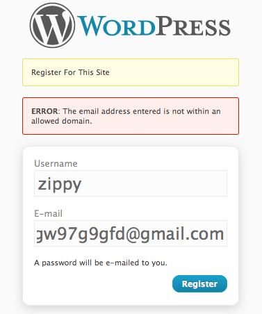 Плагин User Domain Whitelist - использование доменов в качестве защиты от спама (1)