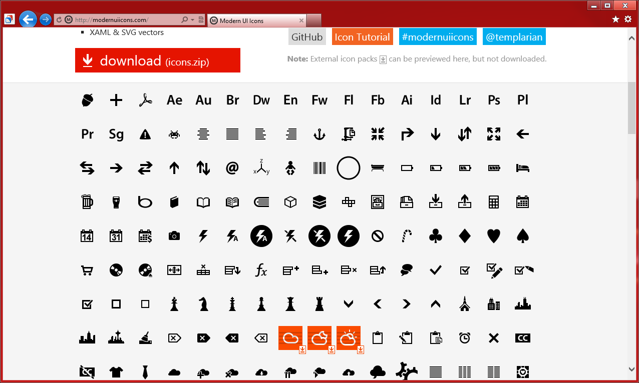 Источники для оформления сайта в стиле Modern UI (Metro UI) (4)