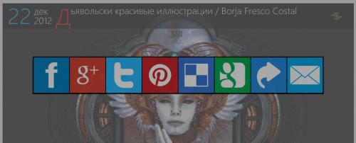 Кнопки социальных закладок и сервисов с индивидуальным оформлением | n-wp.ru