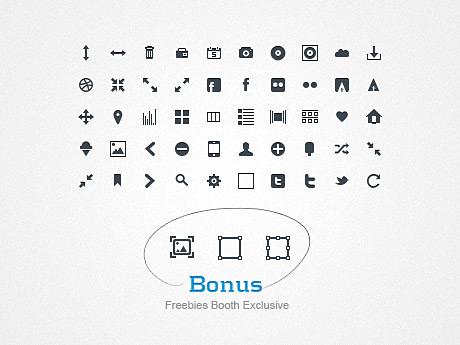 Большие наборы монохромных иконок для оформления вашего сайта - Glyph Icons PatriGlyphs #1