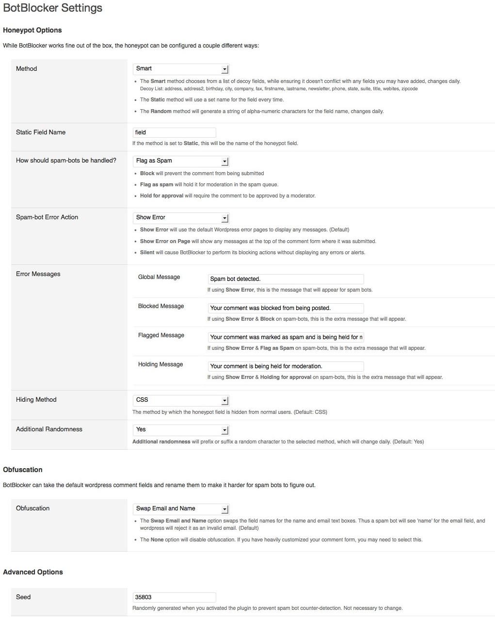 BotBlocker - плагин для защиты блога от автоматического спама, оставляемого ботами | n-wp.ru