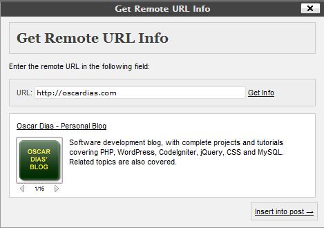 Get Remote URL Info - плагин для вывода информационного блока о ссылке в посте (2)
