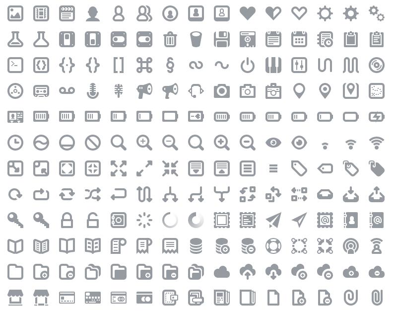 Большие наборы монохромных иконок для оформления вашего сайта - Batch, PatriGlyphs, Jigsoar | n-wp.ru
