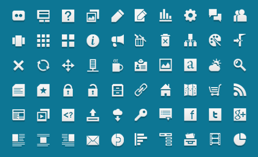 Большие наборы монохромных иконок для оформления вашего сайта - Jigsoar