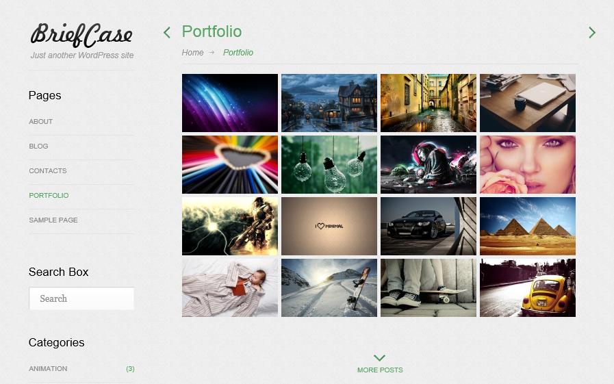 Briefcase - элегантная, светлая тема для фотоблога (2)