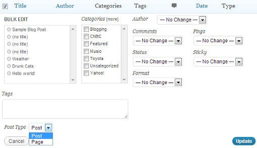 Post Type Switcher - плагин для конвертирования постов в записи любого другого типа (2)