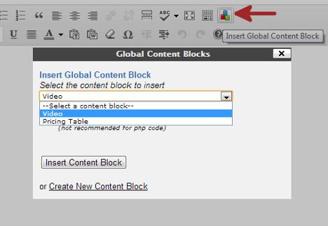Global Content Blocks - плагин, позволяющий вставлять в посты часто используемые блоки с кодом или текстом (1)