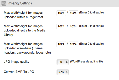 Imsanity - плагин, автоматически уменьшающий размеры изображений, загружаемых в блог | n-wp.ru