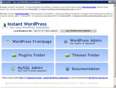 Instant WordPress — cамый простой способ установки на компьютер | n-wp.ru