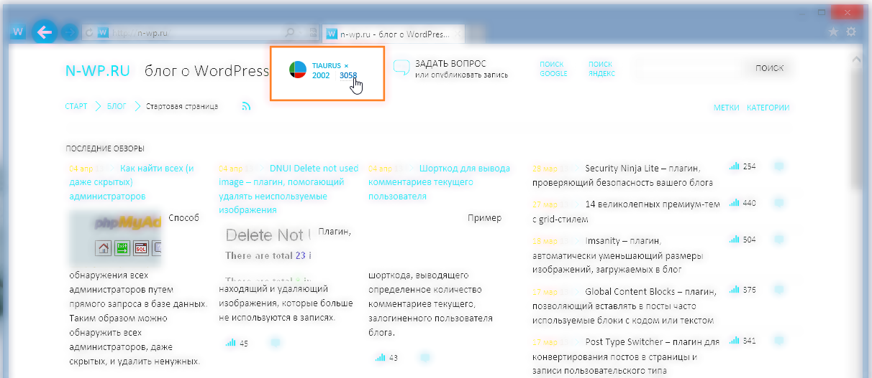 Изменения в блоге: публикация записей, профиль, комментарии текущего пользователя, активность пользователей, статистика посещений | n-wp.ru