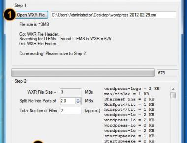 Как разделить один большой XML-файл на несколько мелких - программа WXR File Splitter | n-wp.ru