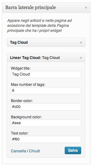 Linear Tag Cloud - плагин, отображающий облако меток, в котором длина каждой метки пропорциональна количеству постов (3)