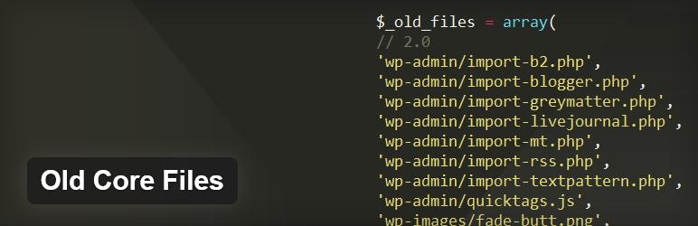 Как удалить ненужные файлы, оставшиеся после обновления WordPress - плагин Old Core Files | n-wp.ru