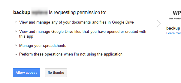 Google Drive for WordPress - плагин для создания резервных копий всей структуры сайта на WordPress, автоматически сохраняемых в облачном хранилище (4)
