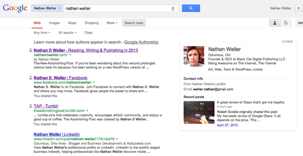 Использование Google Authorship (4)