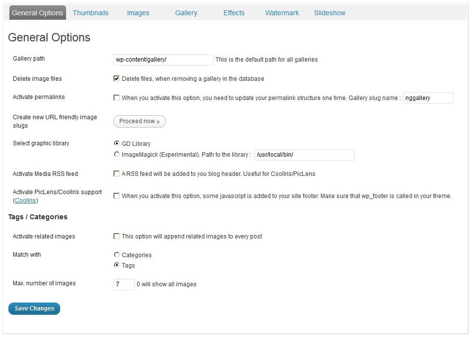 NextGen Gallery - функциональный плагин для создания галерей и альбомов (7)