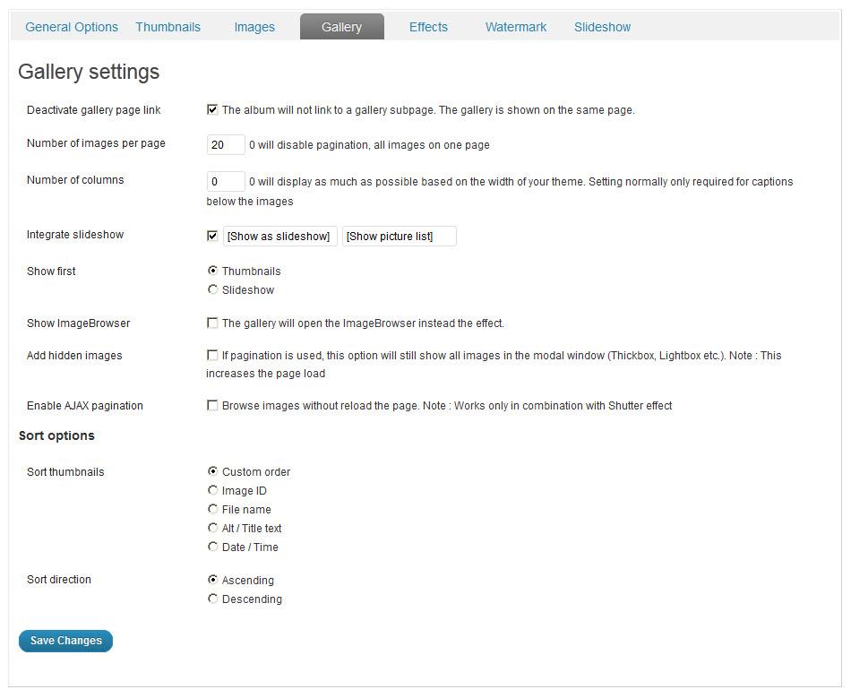 NextGen Gallery - функциональный плагин для создания галерей и альбомов (4)