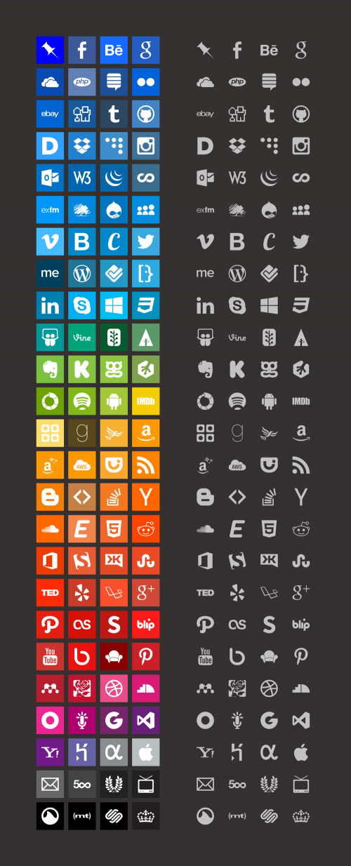 Simple Icons - большой и бесплатный набор иконок известных в интернете брендов, имен и названий в минималистичном стиле | n-wp.ru
