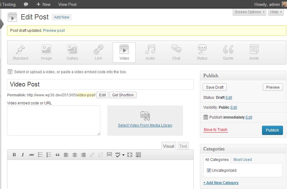 Самая интересная особенность WordPress 3.6: нативная поддержка аудио и видео | n-wp.ru