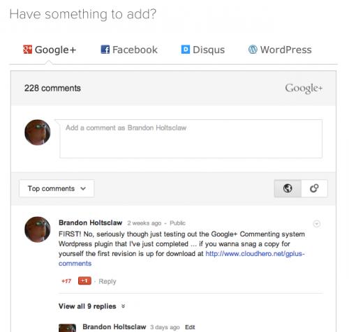 Интеграция системы комментирования Google Plus в блог на WordPress | n-wp.ru