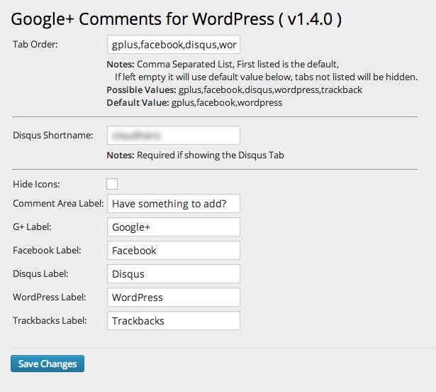 Интеграция системы комментирования Google Plus в блог на WordPress