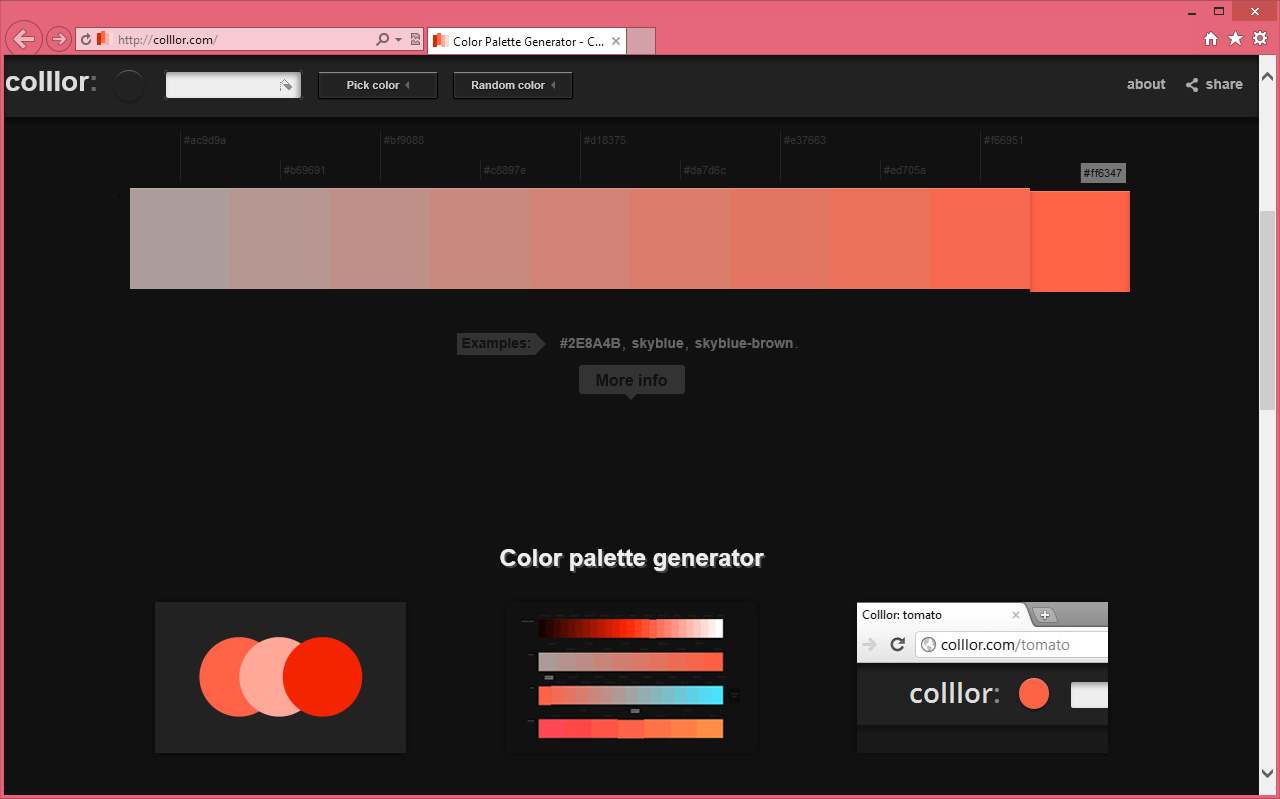 Colllor - оналйновый сервис для выбора палитры цветов   n-wp.ru