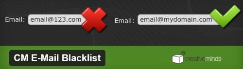 CM Email Blacklist - плагин для защиты формы регистрации от спамеров с помощью списка доменов электронной почты | n-wp.ru