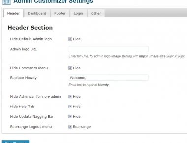 Admin Customizer - плагин для настройки административной части блога | n-wp.ru