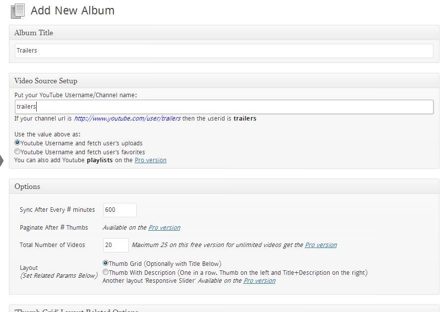 Srizon Responsive Youtube Album - плагин для создания галереи видео из YouTube (7)