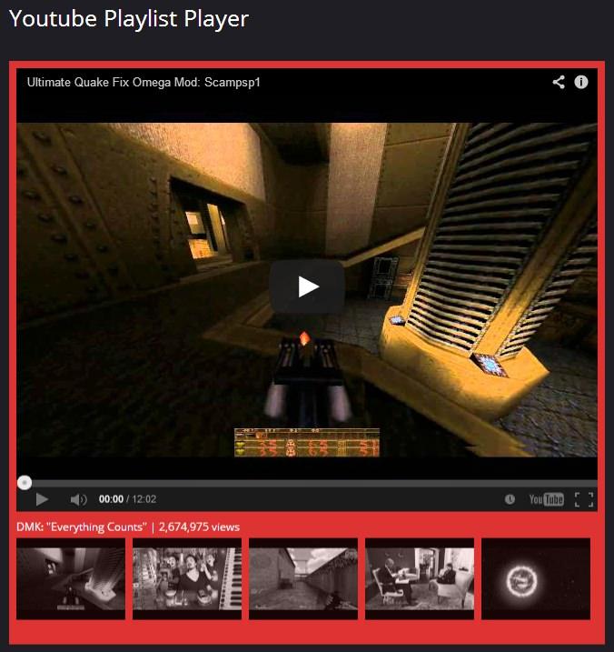 Youtube Playlist Player - плагин для создания плейлистов для видео из YouTube | n-wp.ru