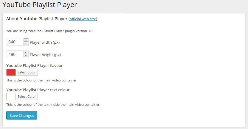 Youtube Playlist Player - плагин для создания плейлистов для видео из YouTube (1)
