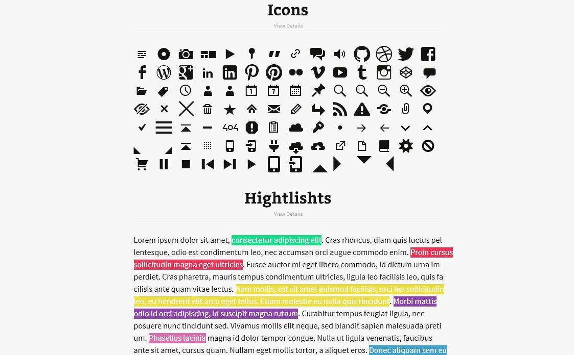 Light Shortcode - набор популярных шорткодов для оформления контента (7)