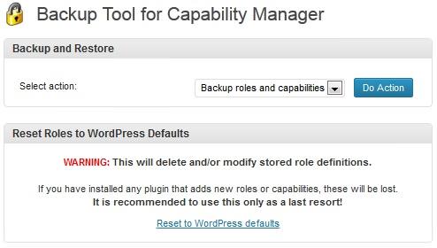 Capability Manager Enhanced - плагин для редактирования возможностей пользователей разного уровня (6)