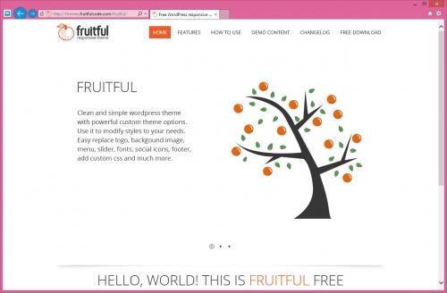 Fruitful - светлая тема со слайдером и адаптивным дизайном | n-wp.ru