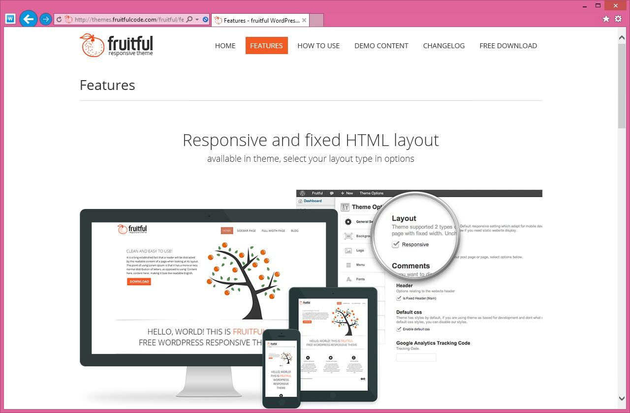 Fruitful - светлая тема со слайдером и адаптивным дизайном (6)
