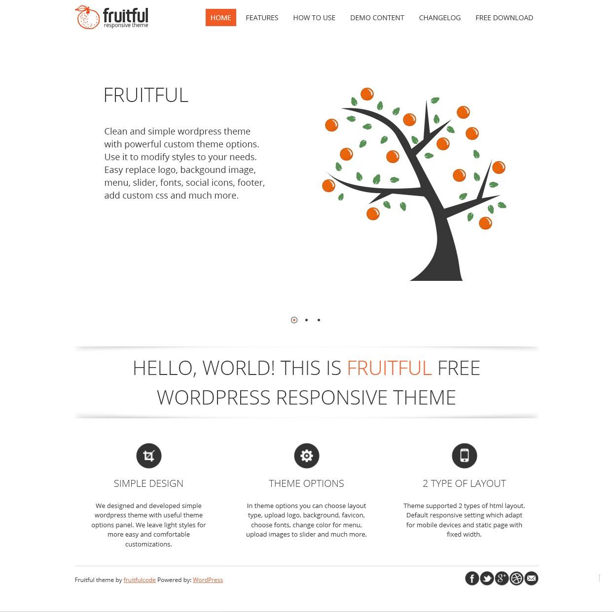 Fruitful - светлая тема со слайдером и адаптивным дизайном (1)