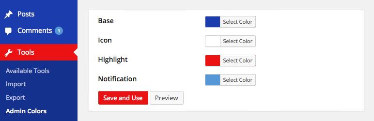 Admin Color Schemer - плагин для создания собственных цветовых схем административной части блога | n-wp.ru