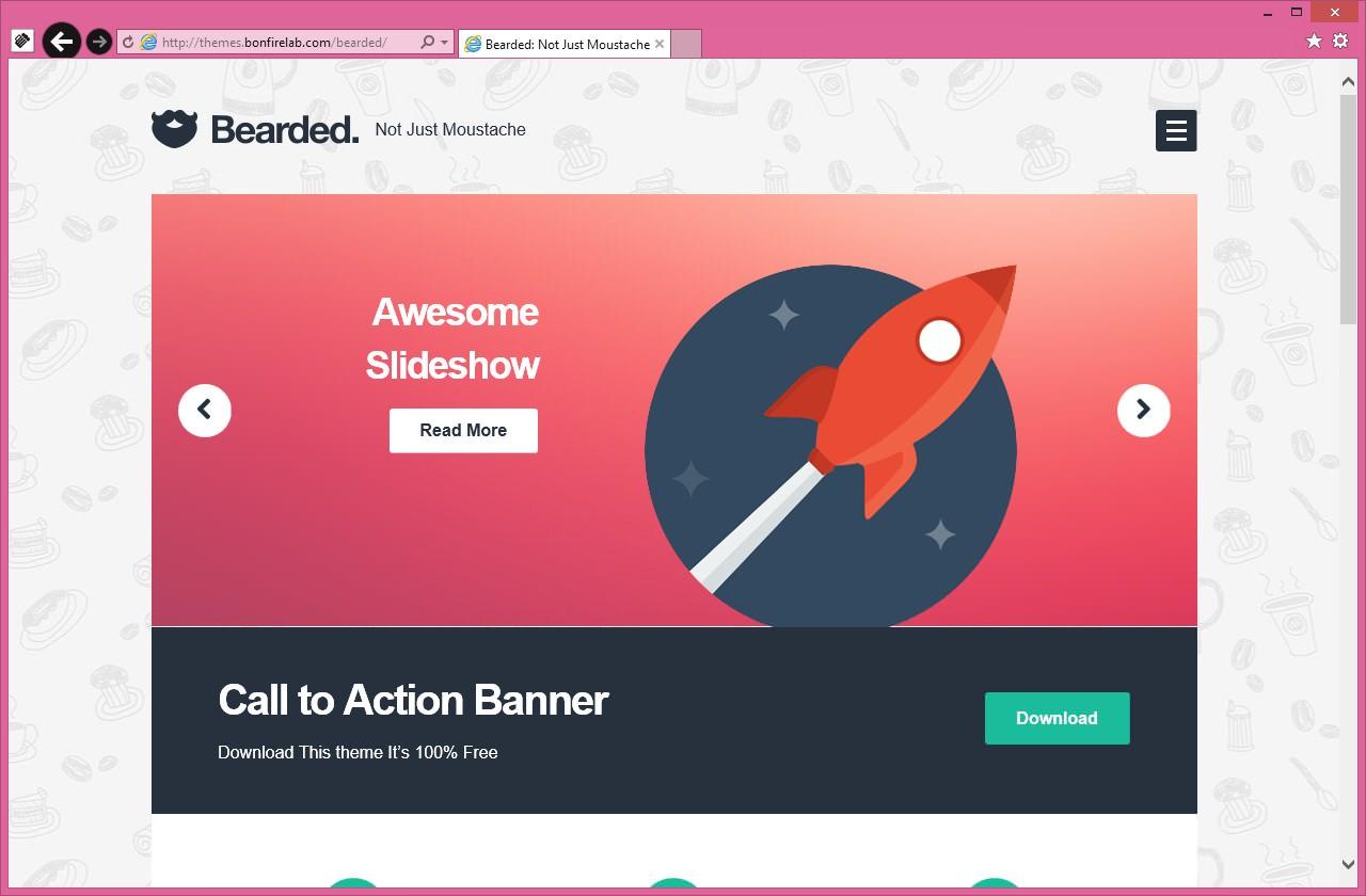 Bearded - светлая тема с адаптивным дизайном, встроенным анимированным слайдером и портфолио   n-wp.ru