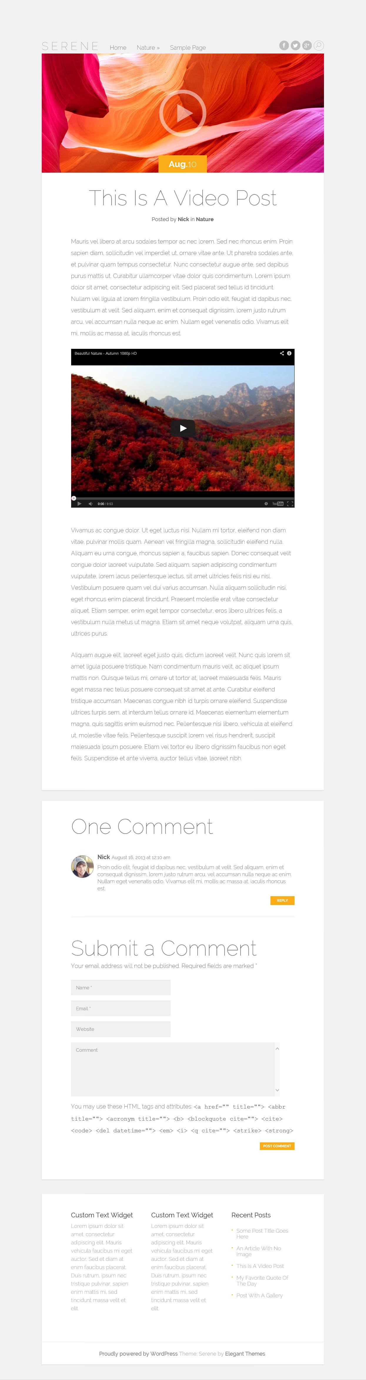 Serene - элегантная тема с адаптивным дизайном для личного блога (3)