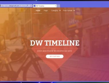 DW Timeline — тема для блога с лентой постов как в Facebook | n-wp.ru