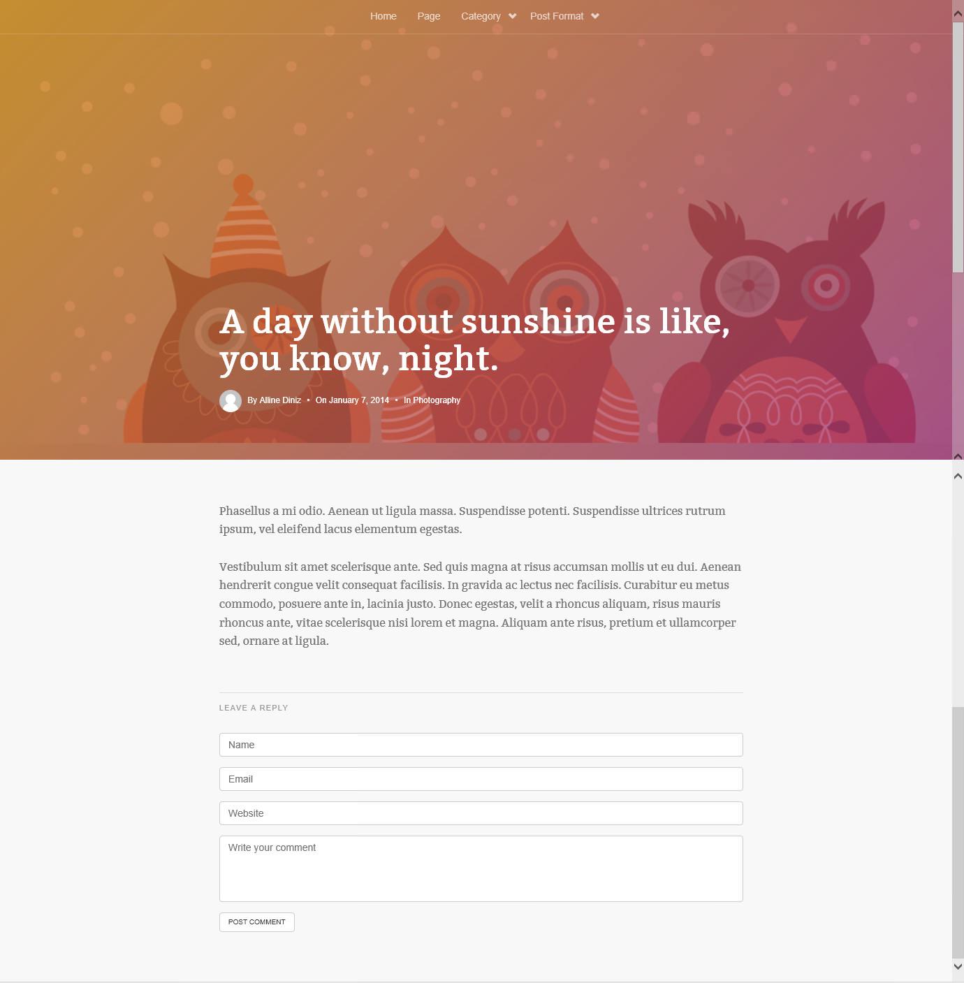 DW Timeline — тема для блога с лентой постов как в Facebook