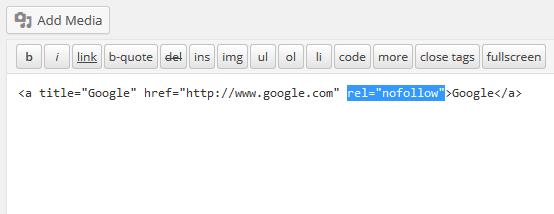 Rel Nofollow Checkbox — плагин для добавления атрибута nofollow при вставке ссылки в пост в редакторе